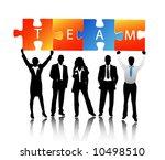 business people | Shutterstock .eps vector #10498510