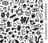 summer lifestyle seamless... | Shutterstock .eps vector #1049851424