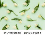 floral pattern made of yellow... | Shutterstock . vector #1049854055
