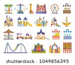 children's amusement outdoor... | Shutterstock .eps vector #1049856395