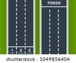 direct street asphalt road ...