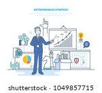 entrepreneur strategy.... | Shutterstock .eps vector #1049857715