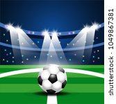 soccer football with court   Shutterstock .eps vector #1049867381