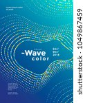 modern colorful mosaic wave... | Shutterstock .eps vector #1049867459