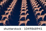 animal cloning  dogs. side view.... | Shutterstock . vector #1049868941