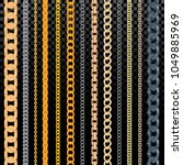 chain vector pattern golden... | Shutterstock .eps vector #1049885969