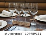 reserved plate on an arranged... | Shutterstock . vector #104989181