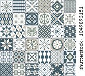 vector seamless tile pattern.... | Shutterstock .eps vector #1049893151