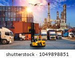 business logistics and... | Shutterstock . vector #1049898851