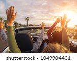 happy friends having fun in... | Shutterstock . vector #1049904431