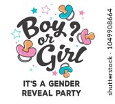 pink and blue gender reveal... | Shutterstock .eps vector #1049908664