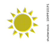 sun sign illustration. vector.... | Shutterstock .eps vector #1049910191