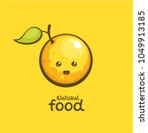 cute cheerful orange. comic... | Shutterstock .eps vector #1049913185