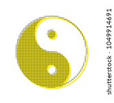 ying yang symbol of harmony and ... | Shutterstock .eps vector #1049914691