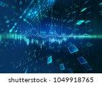abstract defocus digital... | Shutterstock . vector #1049918765