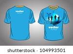 t shirt design. vector... | Shutterstock .eps vector #104993501