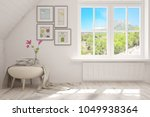 white empty room with summer... | Shutterstock . vector #1049938364
