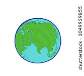 earth icon drawing on white... | Shutterstock .eps vector #1049939855