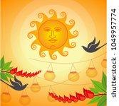 erythrina variegata flowers and ...   Shutterstock .eps vector #1049957774