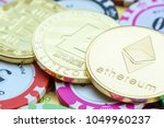 crypto currency  blockchain  ... | Shutterstock . vector #1049960237