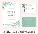 wedding invitation card with... | Shutterstock .eps vector #1049964425