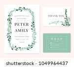 wedding invitation card with... | Shutterstock .eps vector #1049964437