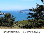 looking out over the pacific... | Shutterstock . vector #1049965619