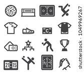 sepak takraw icons | Shutterstock .eps vector #1049969267