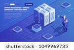 network infrastructure  server... | Shutterstock .eps vector #1049969735