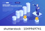 business analytics statistics ... | Shutterstock .eps vector #1049969741