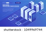 big modern data center  server... | Shutterstock .eps vector #1049969744