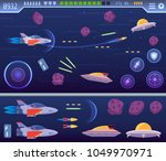 modern wide space explorer game ... | Shutterstock .eps vector #1049970971