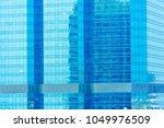 blue glasses window pattern on...   Shutterstock . vector #1049976509