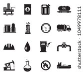 oil industry icons. black flat... | Shutterstock .eps vector #1049978111