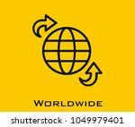 worldwide vector icon | Shutterstock .eps vector #1049979401