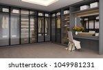 modern luxury dressing room... | Shutterstock . vector #1049981231
