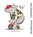 Bicycling Bear.santa Monica...