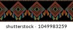 ethnic embroidery seamless... | Shutterstock .eps vector #1049983259