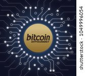 bitcoin crypto currency | Shutterstock .eps vector #1049996054
