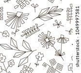 hand drawn seamless pattern... | Shutterstock .eps vector #1049997581