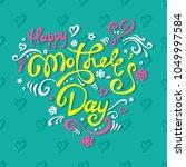 vector happy mather's day... | Shutterstock .eps vector #1049997584