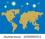 world global communication... | Shutterstock .eps vector #1050000521