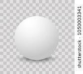 blank of white round sphere or... | Shutterstock .eps vector #1050003341