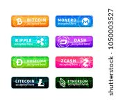 cryptocurrency accepted here ... | Shutterstock .eps vector #1050003527