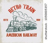 Retro Train. Vintage Locomotiv...