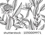 hawaiian pattern seamless... | Shutterstock .eps vector #1050009971