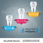 business infographics origami... | Shutterstock .eps vector #1050010535