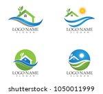 building home nature logo... | Shutterstock .eps vector #1050011999