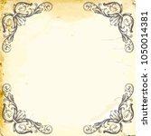 retro baroque decorations... | Shutterstock .eps vector #1050014381