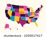 vintage colorful united state... | Shutterstock .eps vector #1050017417